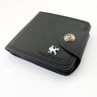 Кожен мъжки портфейл Пежо /  Peugeot черен цвят