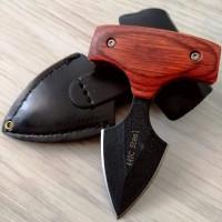 Тактически малък нож урбан knife с кожен калъф
