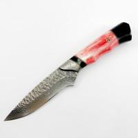 Ръчно направен ловен нож от дамаска стомана дръжка от камилска кост