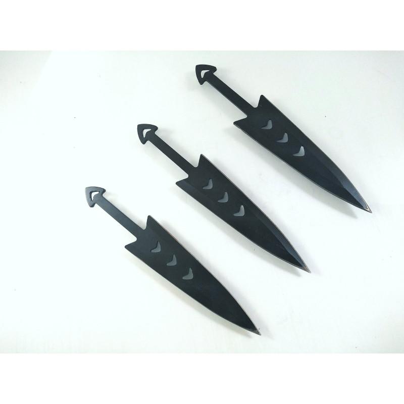 Ножове ками за хвърляне комплект 3 броя дизайн рибена кост