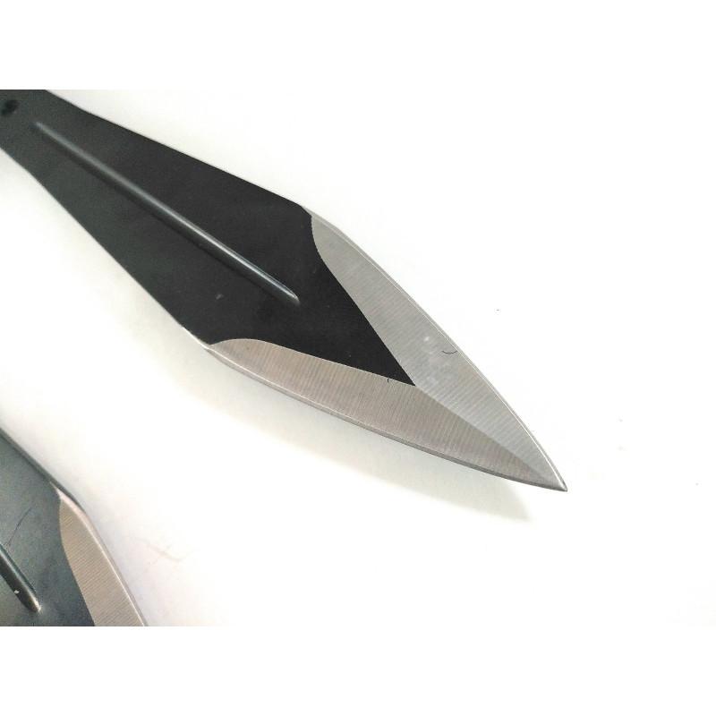 Ками ножове пластини кунай за хвърляне,мятане с черно тефлоново покритие